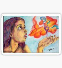 Hinami - watercolor and colred pencil, mixed media Sticker