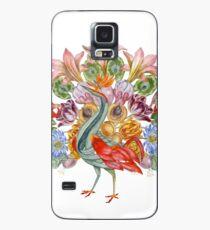 Botanical Watercolor Peacock  Case/Skin for Samsung Galaxy