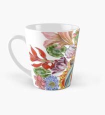 Botanical Watercolor Peacock  Tall Mug