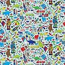 TOYS - fun pattern by Cecca Designs by Cecca-Designs