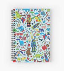TOYS - fun pattern by Cecca Designs Spiral Notebook