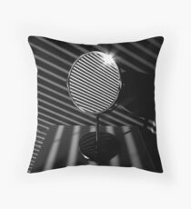 between the lines of light and darkness Throw Pillow