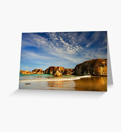 Elephants by the sea Greeting Card