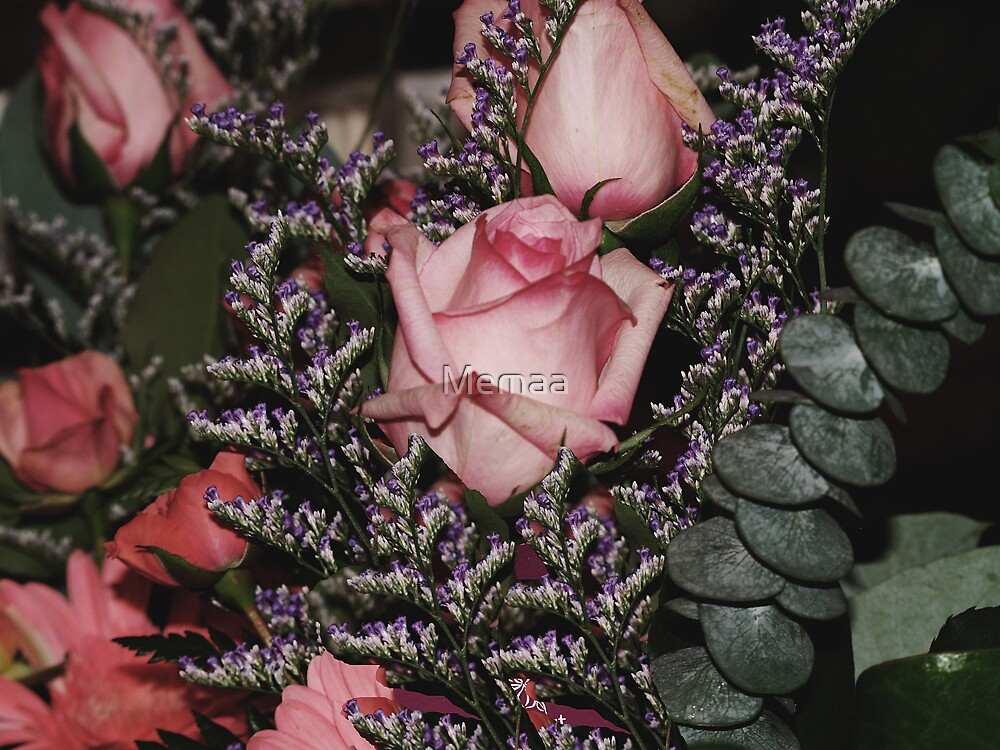 Roses and Heather by Memaa