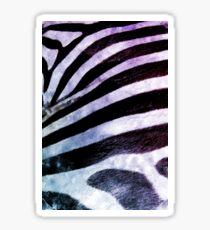 Zebra watercolor animal print Sticker