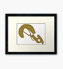 Golden Kitesurfing Sticker Framed Print