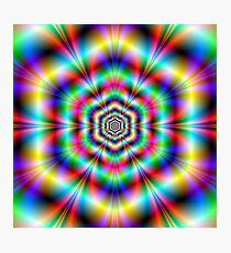 Psychedelic Hexagon Photographic Print