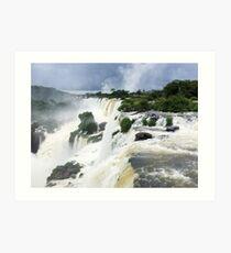 Edge of Iguazu Falls - Puerto Iguazu, Argentina Art Print