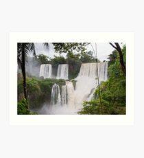Spectacular Iguazu Falls - Puerto Iguazu, Argentina Art Print