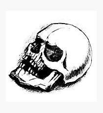 human skull bones skeleton dead Photographic Print