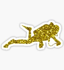Golden Diving Sticker Sticker
