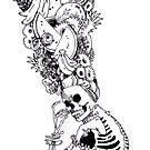 Carmen Miranda Skeleton by maxthedermott