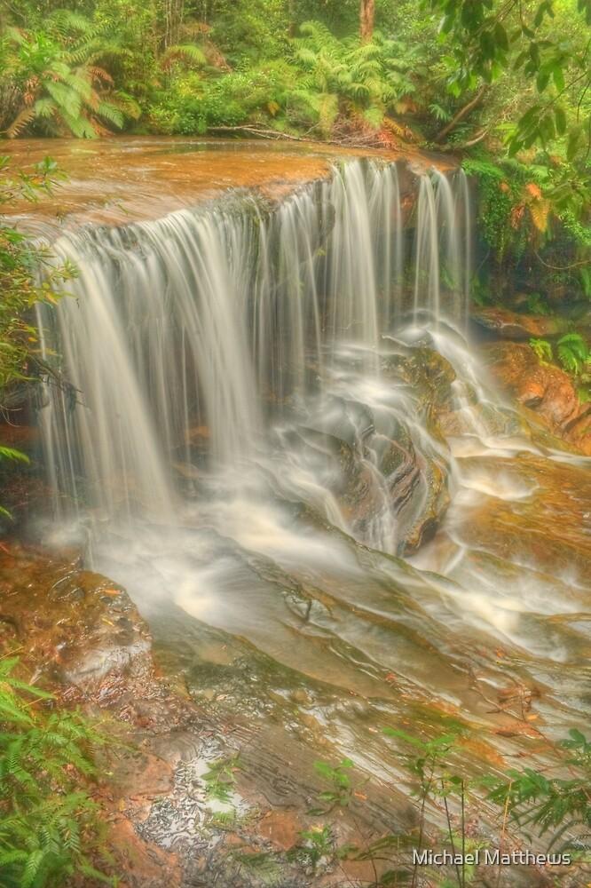 Lower Somersby Falls .. Portrait view by Michael Matthews