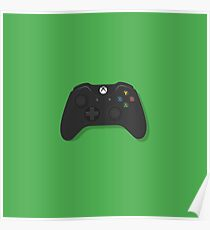 Xbox One Black Controller Poster