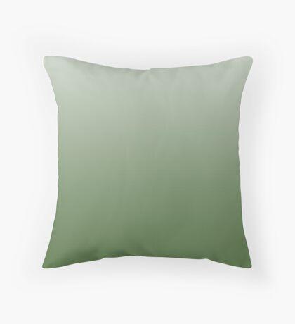 Earthy Treetop green ombre Throw Pillow