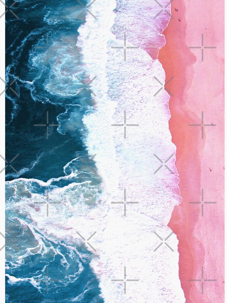 Aerial Beach, Ocean Waves by PrintsProject