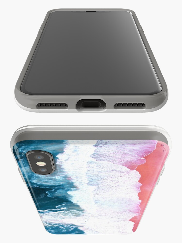 Alternate view of Aerial Beach, Ocean Waves iPhone Case & Cover