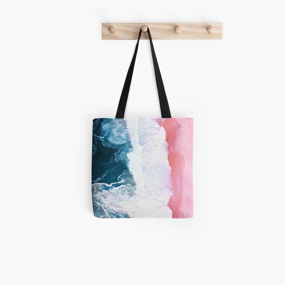 Aerial Beach, Ocean Waves Tote Bag
