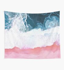 Aerial Beach, Ocean Waves Wall Tapestry