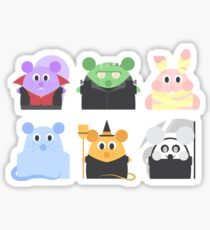 Spoopy Halloween Critters Sticker