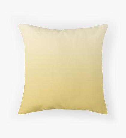 Mellow Cream Gold yellow ombre Throw Pillow