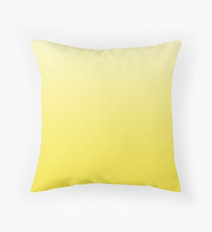 Blazing Yellow ombre Throw Pillow
