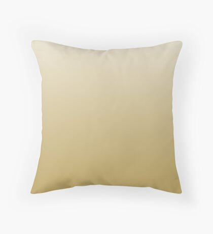 Creamy Rich Gold ombre Throw Pillow