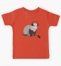 Funny Musical Ferret Kids Tee