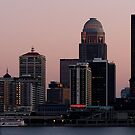 Skyline of Louisville at Dusk by Perspective