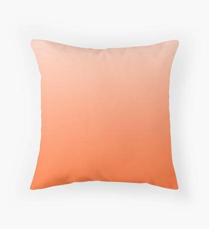 Vibrant Orange ombre Throw Pillow