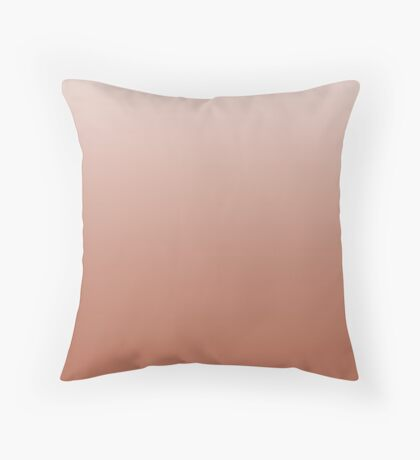 Natural Autumn Leaf brown ombre Throw Pillow
