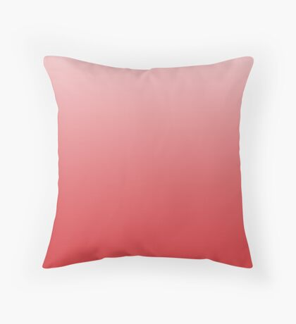 Fiery Red ombre Throw Pillow