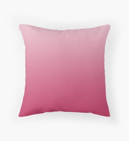 Bright Rose pink ombre Throw Pillow
