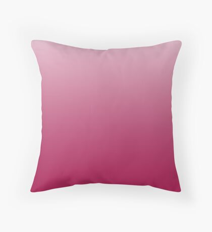 Bold Cerise red ombre Throw Pillow