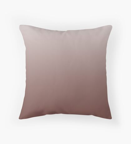 Rich Cherry Mahogany Red ombre Throw Pillow