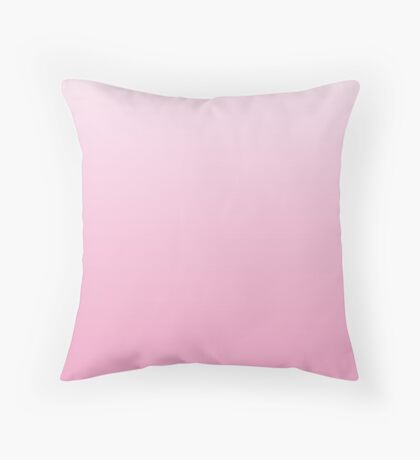 Bright Prism Pink ombre Throw Pillow