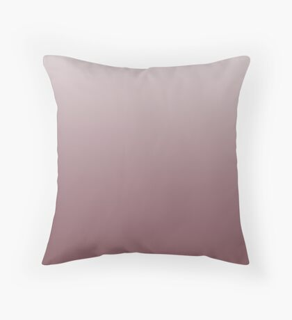 Ashen Wild Ginger brown ombre Throw Pillow