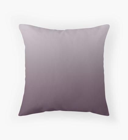 Dark Winter Bloom purple ombre Throw Pillow