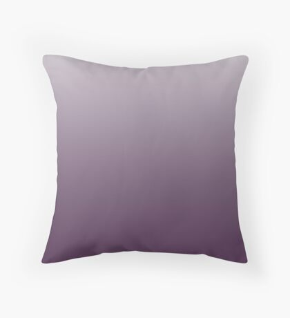 Deep Shadow Purple ombre Throw Pillow
