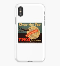 vintage twa over the top polar route iPhone Case/Skin