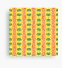 green and orange geo Canvas Print