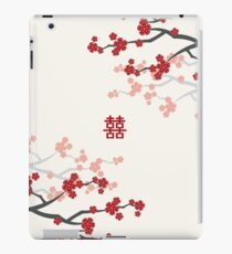 Red Oriental Cherry Blossoms on Ivory and Chinese Wedding Double Happiness | Japanese Sakura  iPad Case/Skin