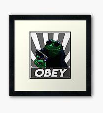Gangster Kermit with Guns Framed Print