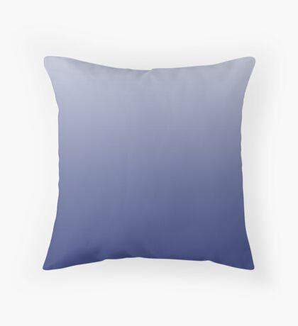 Dusty Mazarine Blue ombre Throw Pillow