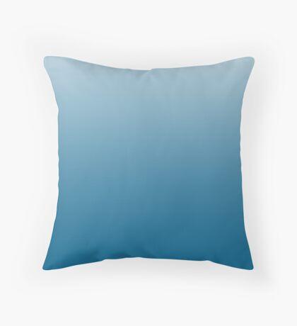 Intense Mykonos Blue ombre Throw Pillow