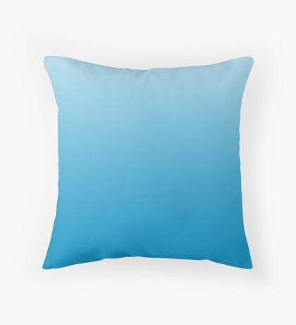 Vibrant Dresden Blue ombre Throw Pillow