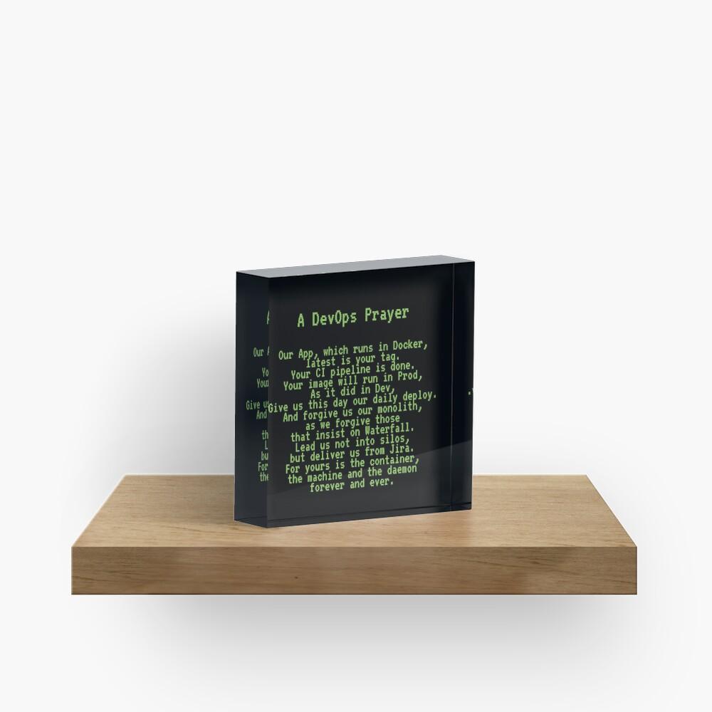 A DevOps Prayer Acrylic Block