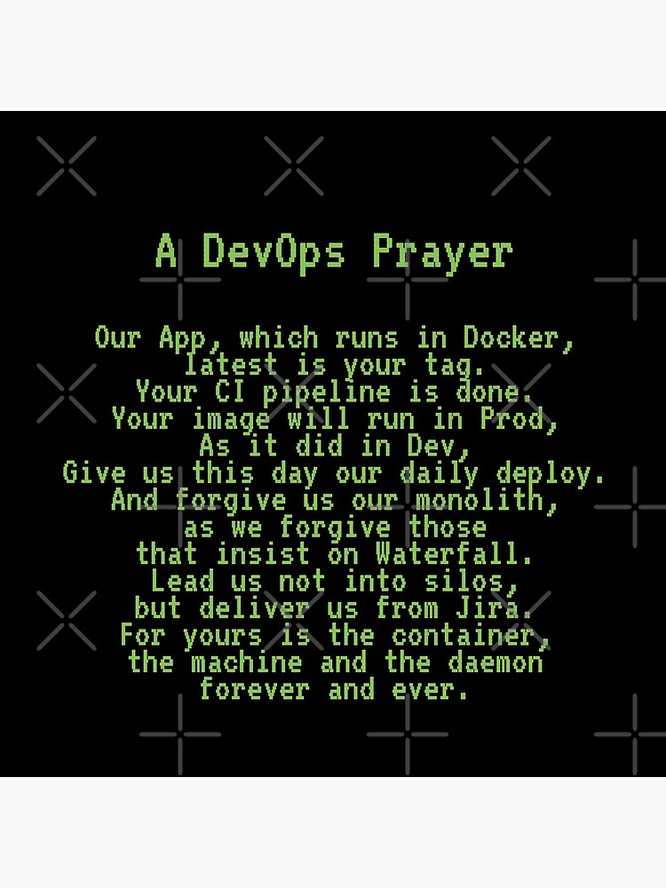 A DevOps Prayer by unixorn