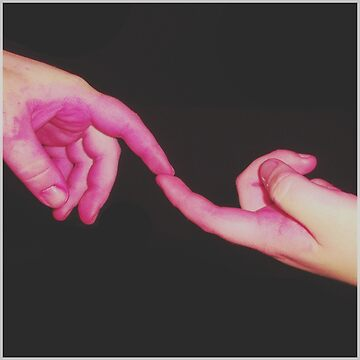 the creation of pink dyed hands by lucillelilips