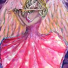 Angel with flute by Cheryle  Bannon